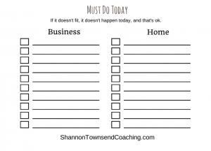 Half - Daily Checklist